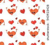 seamless valentines day... | Shutterstock .eps vector #543923428