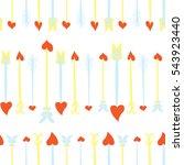 seamless valentines day... | Shutterstock .eps vector #543923440