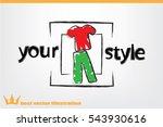shirt pants icon vector... | Shutterstock .eps vector #543930616