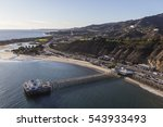 Aerial Of Historic Malibu Pier  ...