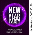 new year party and christmas... | Shutterstock .eps vector #543935170