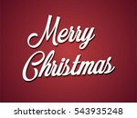 merry christmas white... | Shutterstock .eps vector #543935248