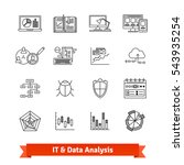 it  data analysis  programming  ... | Shutterstock .eps vector #543935254