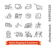 online shopping  ecommerce ... | Shutterstock .eps vector #543935320