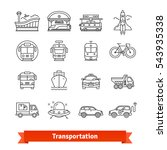 modern transportation and urban ... | Shutterstock .eps vector #543935338