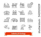 industry   ecology thin line... | Shutterstock .eps vector #543935359