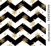 christmas gold snowflake... | Shutterstock .eps vector #543935944