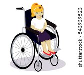 little girl with disabilities... | Shutterstock .eps vector #543939523