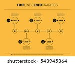 timeline infographic with icons ... | Shutterstock .eps vector #543945364