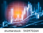 analysis data on stock finance... | Shutterstock . vector #543970264