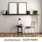 3d rendering of reading corner... | Shutterstock . vector #543979894