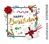 happy birthday card template... | Shutterstock .eps vector #543980968