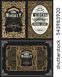 set whiskey labels. vector   Shutterstock .eps vector #543983920