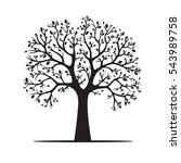 black tree. vector illustration | Shutterstock .eps vector #543989758