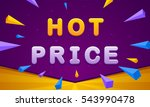 hot price banner. triangle... | Shutterstock .eps vector #543990478