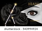 mascara design picture  with... | Shutterstock .eps vector #543994924