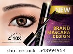 mascara design picture  with... | Shutterstock .eps vector #543994954