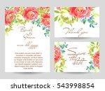 vintage delicate invitation... | Shutterstock . vector #543998854