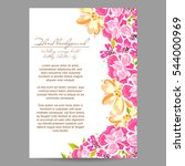 vintage delicate invitation... | Shutterstock . vector #544000969