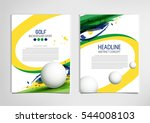 golf club competition... | Shutterstock .eps vector #544008103