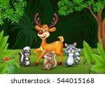 cartoon wild animals in the... | Shutterstock .eps vector #544015168