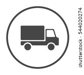 pictograph of truck | Shutterstock .eps vector #544020274