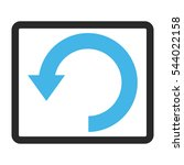 rotate down vector icon. image... | Shutterstock .eps vector #544022158