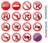 Road Sign Glossy Vector  Set 6...