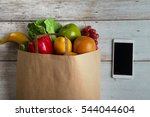grocery shopping concept photo   | Shutterstock . vector #544044604