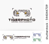 tiger photo. vector logo... | Shutterstock .eps vector #544044709