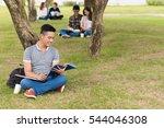 cheerful university student...   Shutterstock . vector #544046308