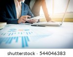 business adviser analyzing... | Shutterstock . vector #544046383