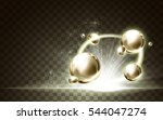 golden ball elements and a... | Shutterstock .eps vector #544047274