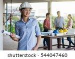 portrait of happy professional... | Shutterstock . vector #544047460
