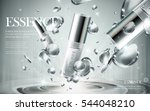 essence contained in silver... | Shutterstock .eps vector #544048210
