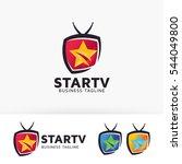 star television. vector logo... | Shutterstock .eps vector #544049800