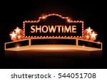 brightly theater glowing retro... | Shutterstock .eps vector #544051708