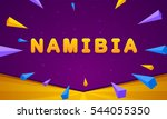 namibia banner. triangle... | Shutterstock .eps vector #544055350