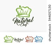 natural chef. vector logo... | Shutterstock .eps vector #544057150