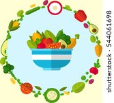 flat style vegetable vector | Shutterstock .eps vector #544061698