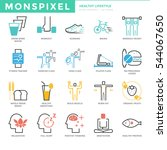 flat thin line icons set of... | Shutterstock .eps vector #544067650