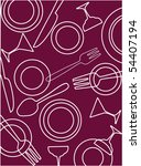 bar and restaurant pattern... | Shutterstock .eps vector #54407194
