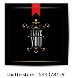 happy valentines day card | Shutterstock .eps vector #544078159