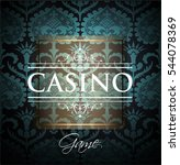casino background. vector eps... | Shutterstock .eps vector #544078369