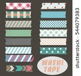 set of cute colorful striped... | Shutterstock .eps vector #544079383