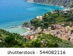 bird's eye view of coastal town ... | Shutterstock . vector #544082116