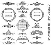 vintage border and rosette for... | Shutterstock . vector #544086610