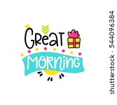 vector poster with phrase  gift ... | Shutterstock .eps vector #544096384