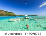 papeete  french polynesia  ... | Shutterstock . vector #544098739