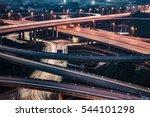 aerial view of suzhou overpass... | Shutterstock . vector #544101298